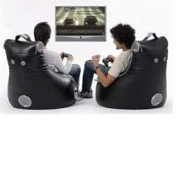 Large Black SlouchPod Gaming Chair